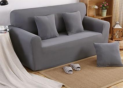 Home Sofa Cover Stretch Four Seasons Sofa Cover Solid Color Sofa Cover C  Length Of