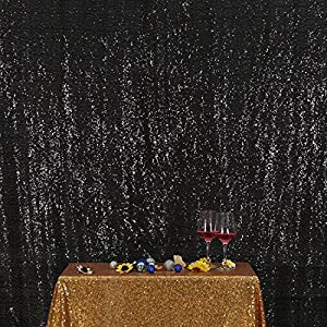 3E Home Sequin Photography Backdrop Curtain for Party Decoration