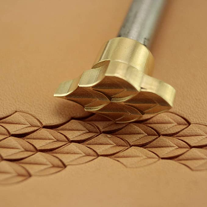 Leather stamp tool for leather craft DIY brass stamp #62B4 dragon`s scale