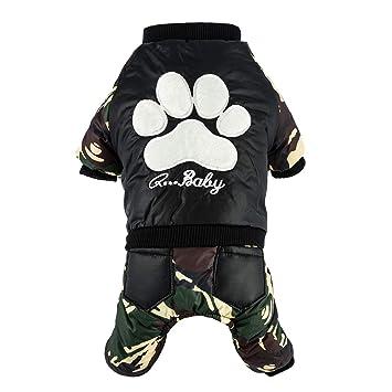 SEMOON Ropa para Mascotas Perros Invierno Caliente Engrosamiento Abrigo Chaqueta Camuflaje Traje para Mascotas Gato Perro Cachorro Ropa Algodón Suave ...