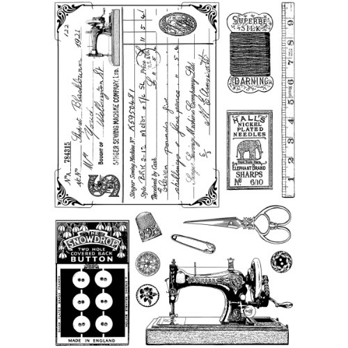 (Crafty Individuals CI-328 Unmounted Rubber Stamp, Sewing Notions )