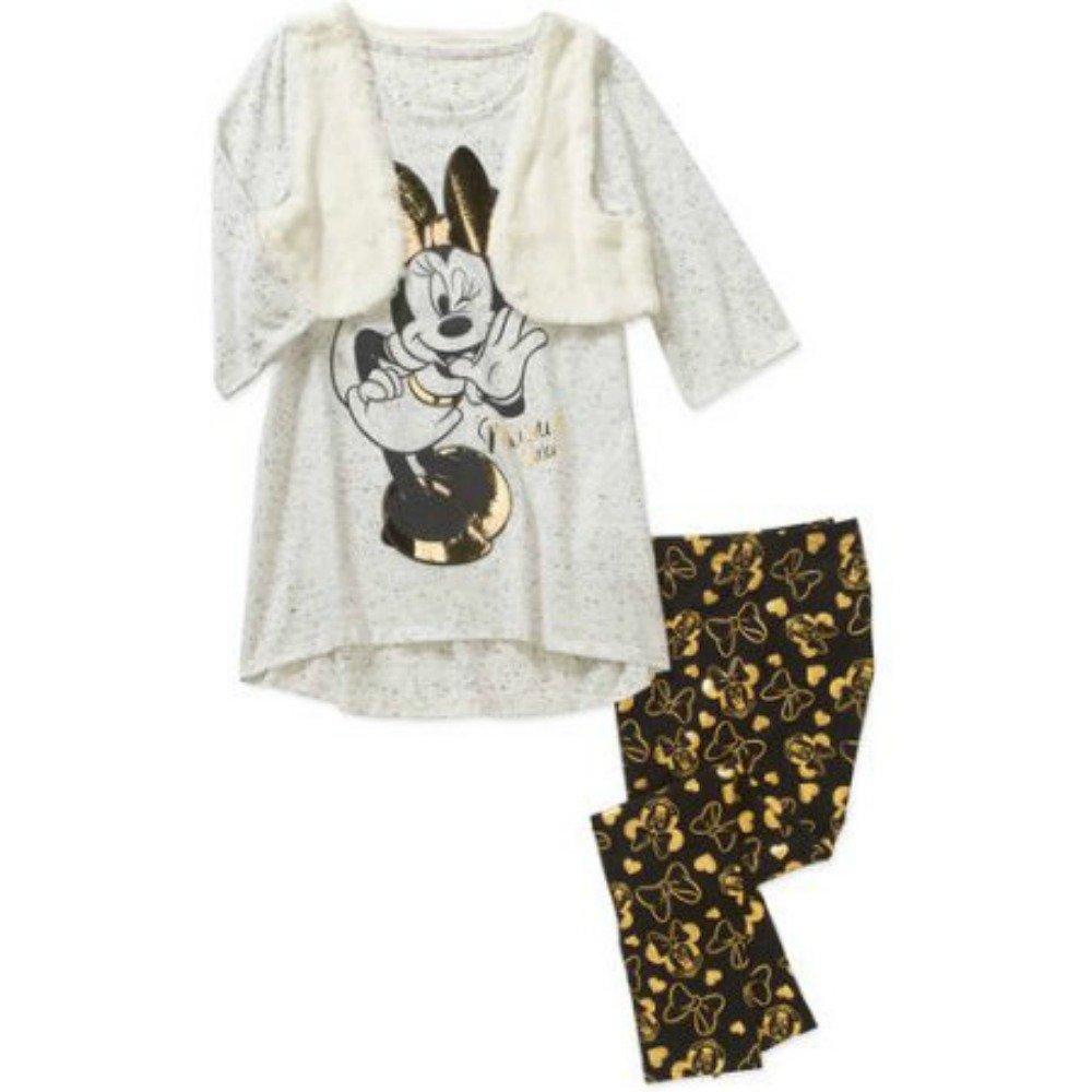 Disney Minnie Mouse Girls' Flyway Vest and Legging Set (Medium (7/8))