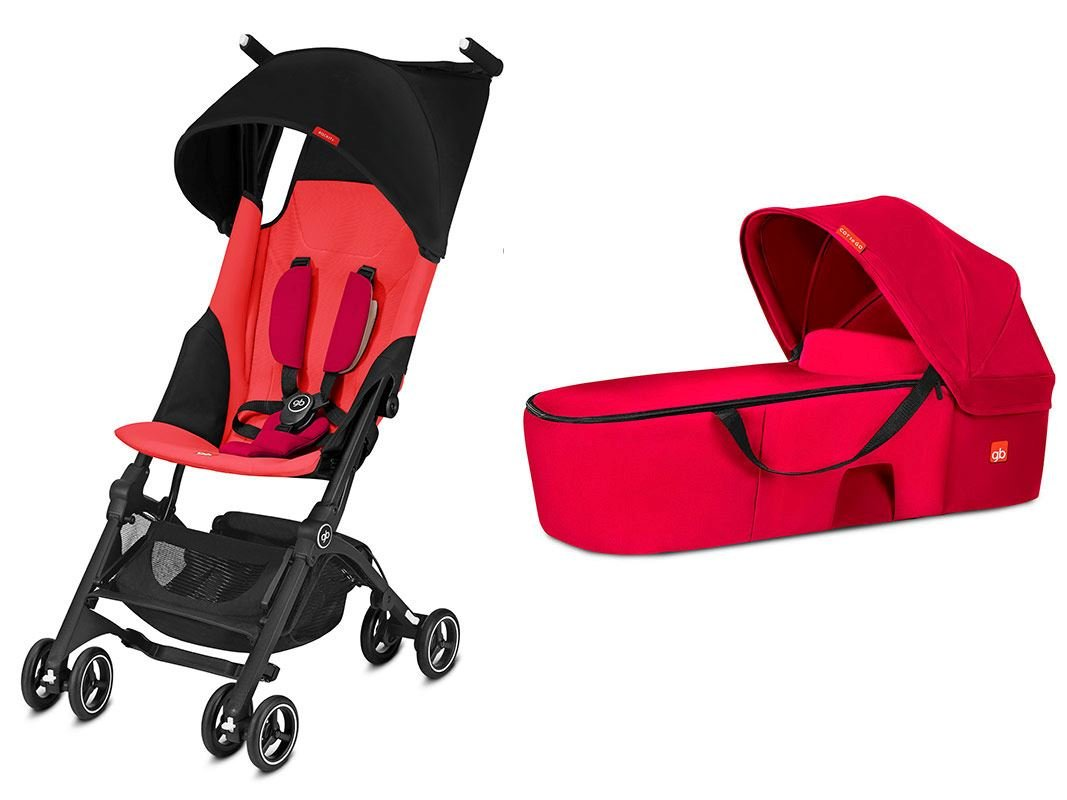 gb Pockit Plus Duo Travel System 2018 Cherry Red
