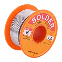 63/37 Rosin Core Solder Wire 2% Flux Solder Iron Welding Wire Reel Diameter 0.6/0.8/1.0mm 50g for Electrical and Electronics DIY Work (1.0mm 50g)