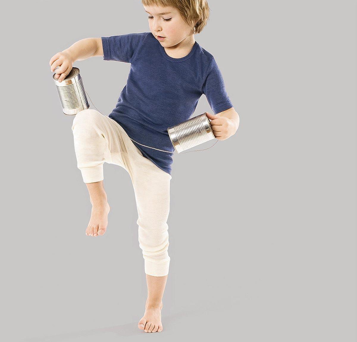 Living Crafts Organic Textiles Kids/' Wool /& Silk Long John Pants 8764 Kids Wool /& Silk Long John Pants Germany Germany