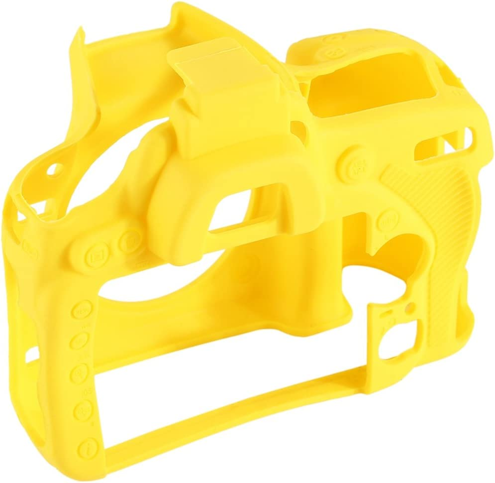 Soft Silicone Protective Case for Nikon D750 Durable Color : Yellow