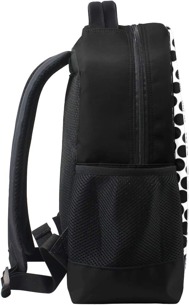 Circles Many Increase Bookbag School Backpack Luggage Travel Sport Bag
