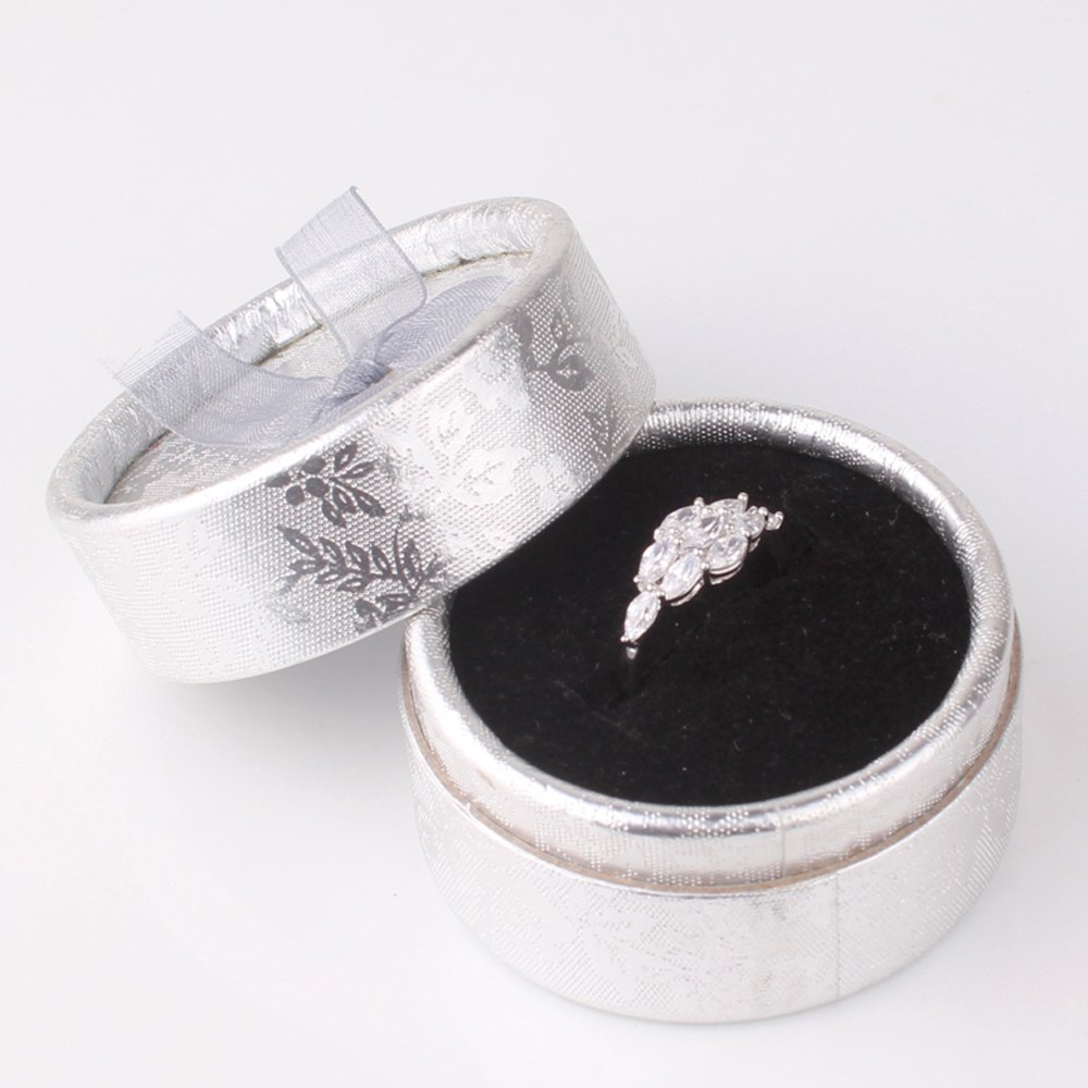 T-Ring Fashion White Gold Plated Ring for Women White Jewelry Wedding Party Rings T/&T