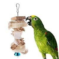 NKYSM Jouet De Perroquet Mâcher Morsure Scratcher Cuttlebone Éponge Grass Suspendus Pet Oiseau Perruche pour Parrot Budgie Lovebird Cockatiels