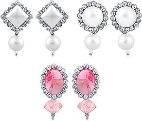 Sukkhi Copper Drop Earrings for Women (White) (CB70120RHDPD450)