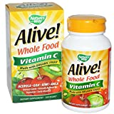 Alive Organic Vitamin C - 120 - Veg Cap, pack of 6