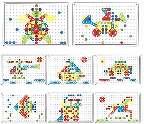 5bb500fe80498d YAKOK 146 Stück Kinder Mosaik Steckspiel