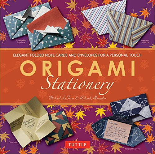 Origami Stationery Kit: [Origami Kit with Book, 80 Papers, 15 Projects]