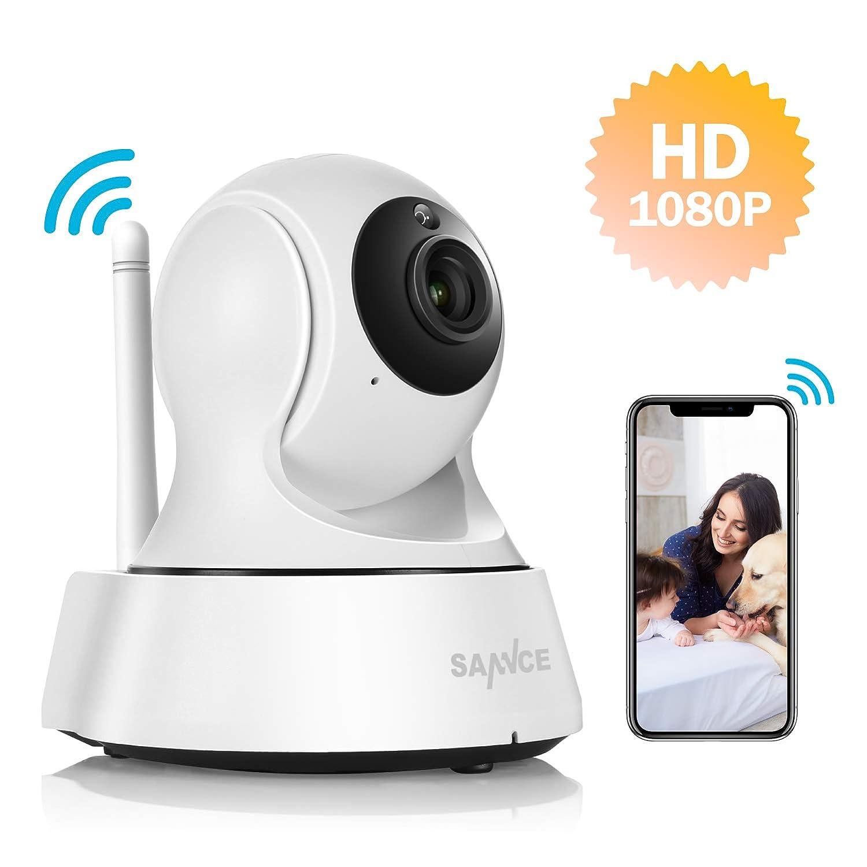 SANNCE - Cámara de vigilancia IP 1080P FHD con visión ...