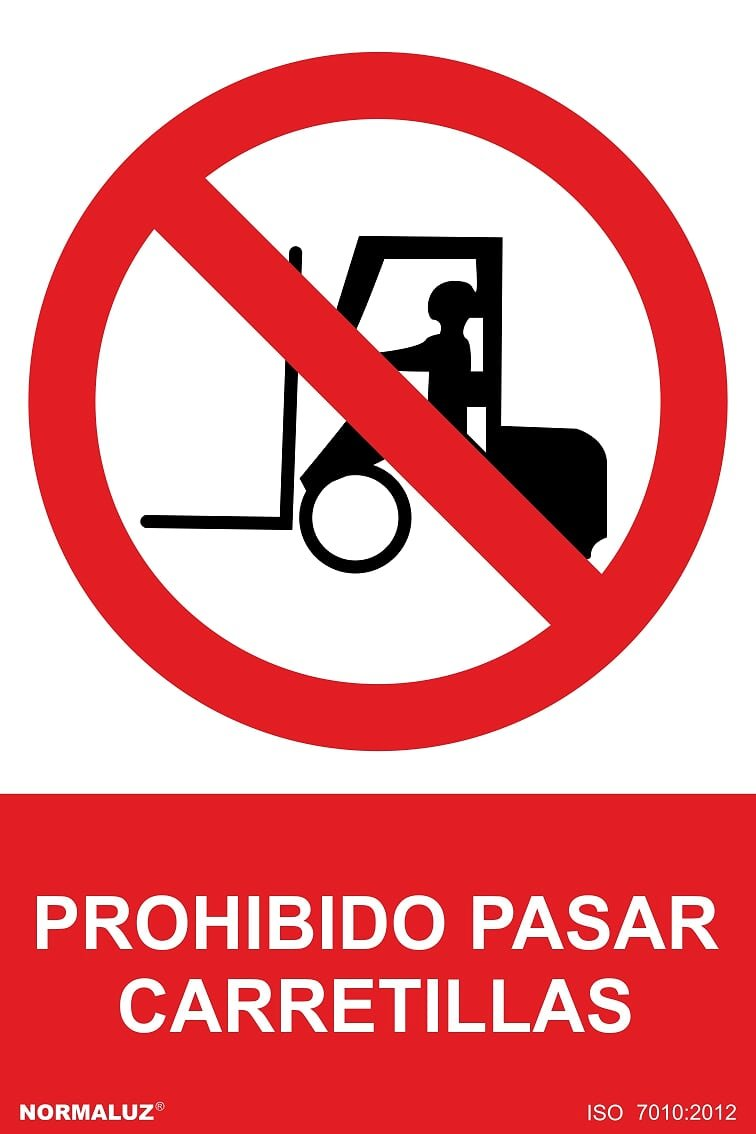 Forever Print - Carteles Pvc 40X30 Prohibido Carretillas