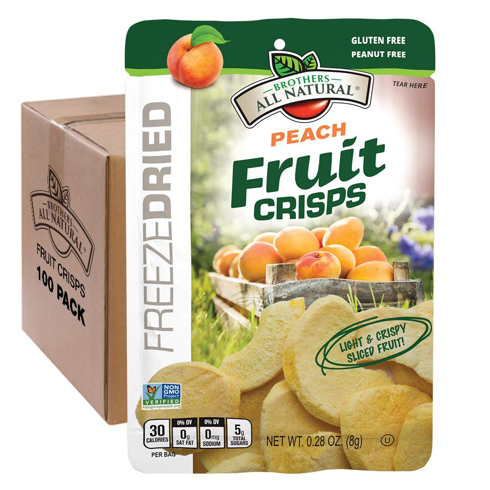 Brothers-ALL-Natural Fruit Crisps, Peach, 0.28 Ounce (Pack of 100) by Brothers-ALL-Natural