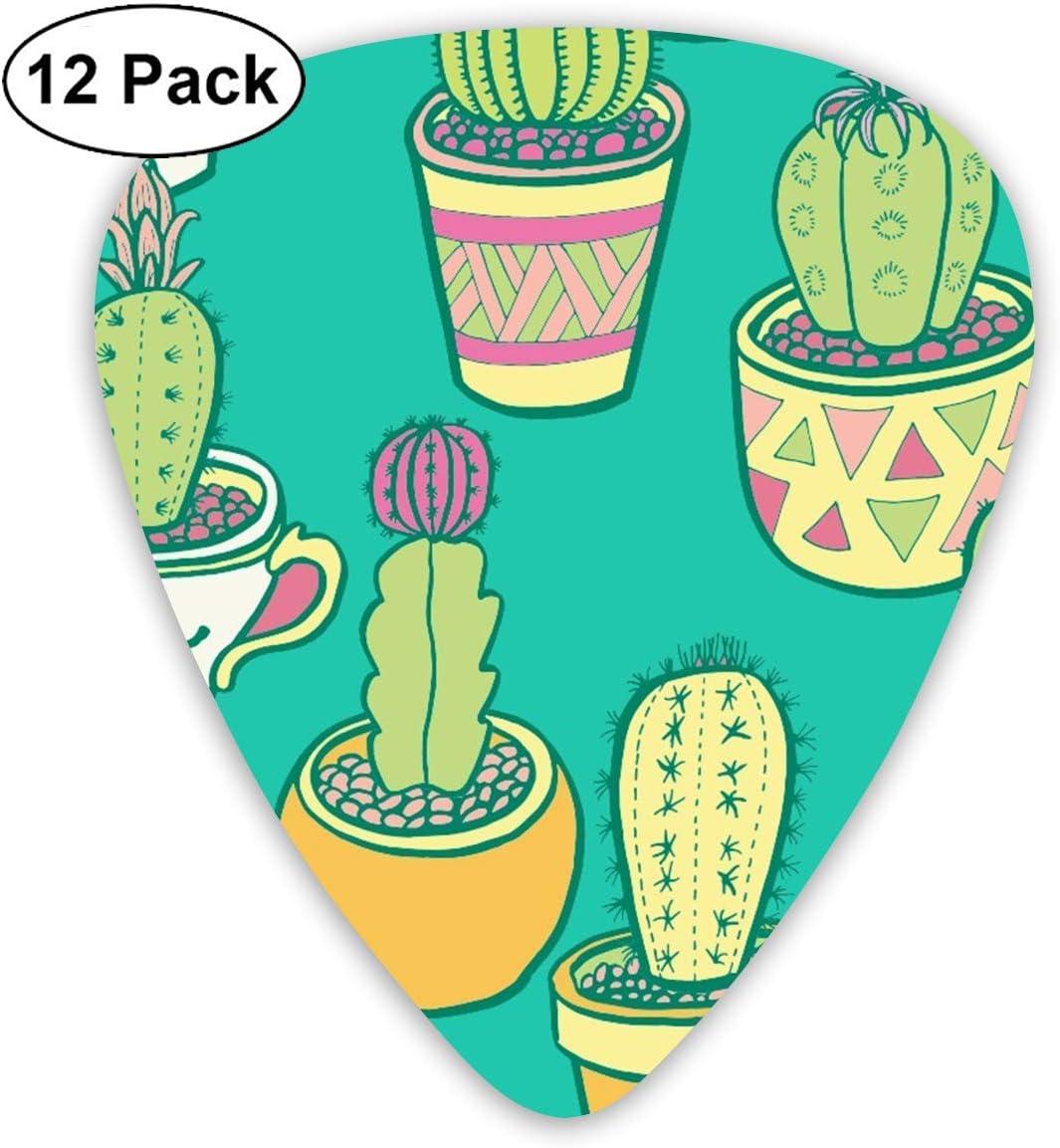 12 Pack Guitar Picks Cactus.png Think, Medium and Heavy,Unique ...