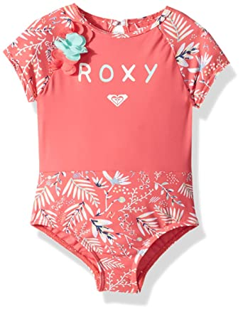 d42f41b7ea192 Roxy Girls' Toddler Bali Dance Onesie Swimsuit, Brush Pink Swim Banana  Split, ...