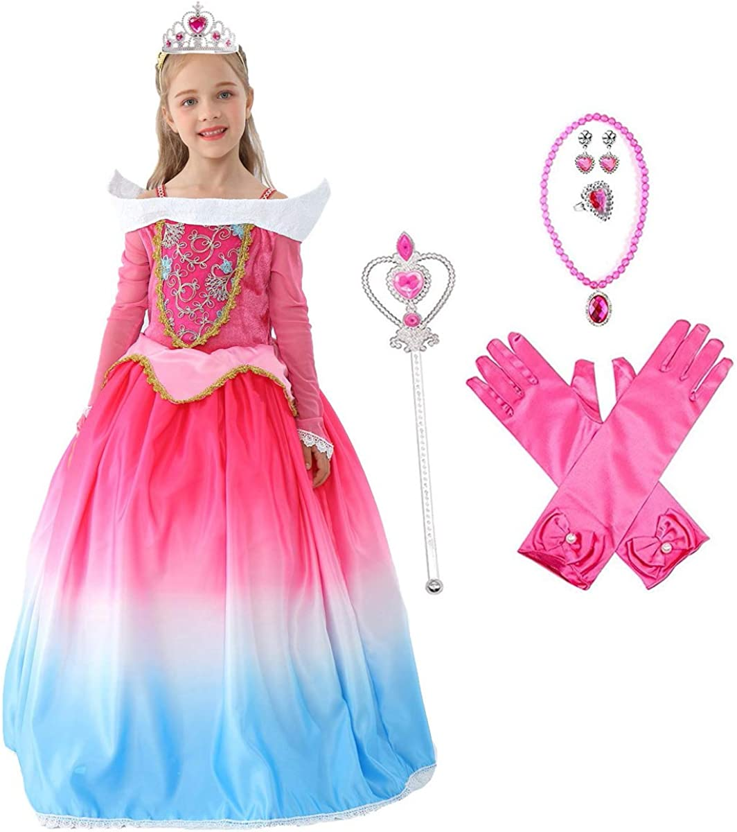 DRESS UP BRIDE DRESS GOWN TIARA BRIDAL PRINCESS ROLE PLAY GIRLS DRESSING GIFT