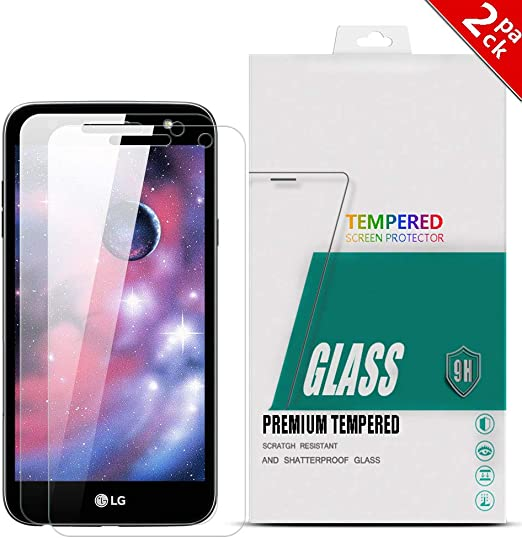 YuhooTech [2-Pack] LG XPOWER 2 Protector Cristal Vidrio Templado ...