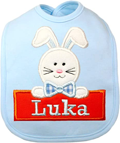 Name 1st Easter Bunny Embroidered Baby Vest Gift Personalised First Rabbit