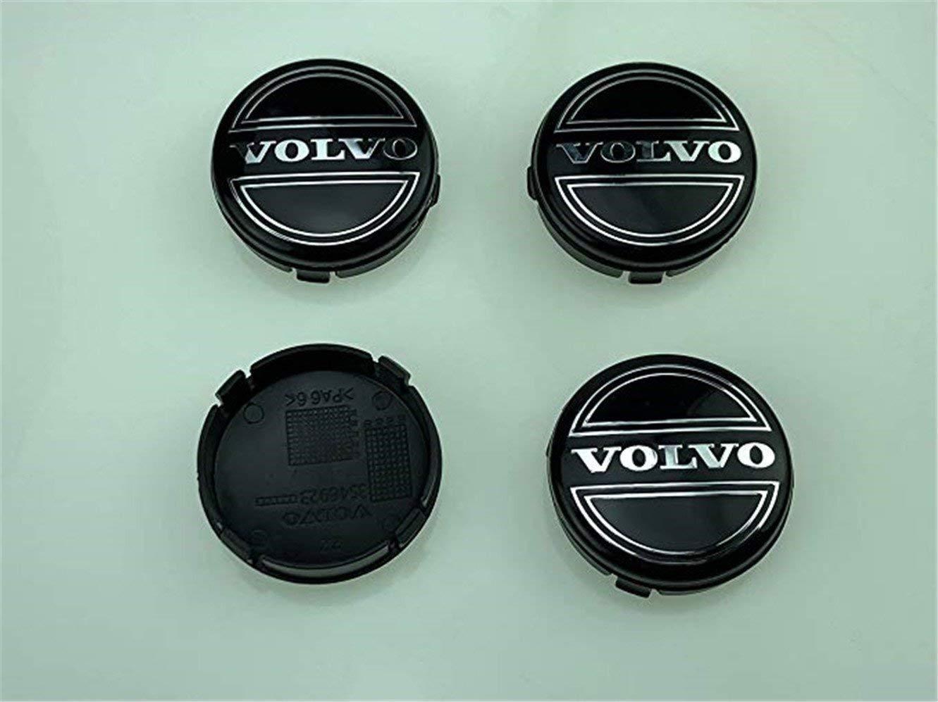 Y&F Boutique shops Juego de 4 tapacubos de Aleación para Llantas de Volvo, 64 mm, Negro, C70, S60, V60, V70, S80, XC90: Amazon.es: Coche y moto