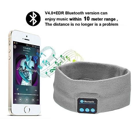 Auriculares de diadema Bluetooth inalámbrico, Yoga deportes diadema sueño inalámbrico auriculares Bluetooth mejor cancelación de
