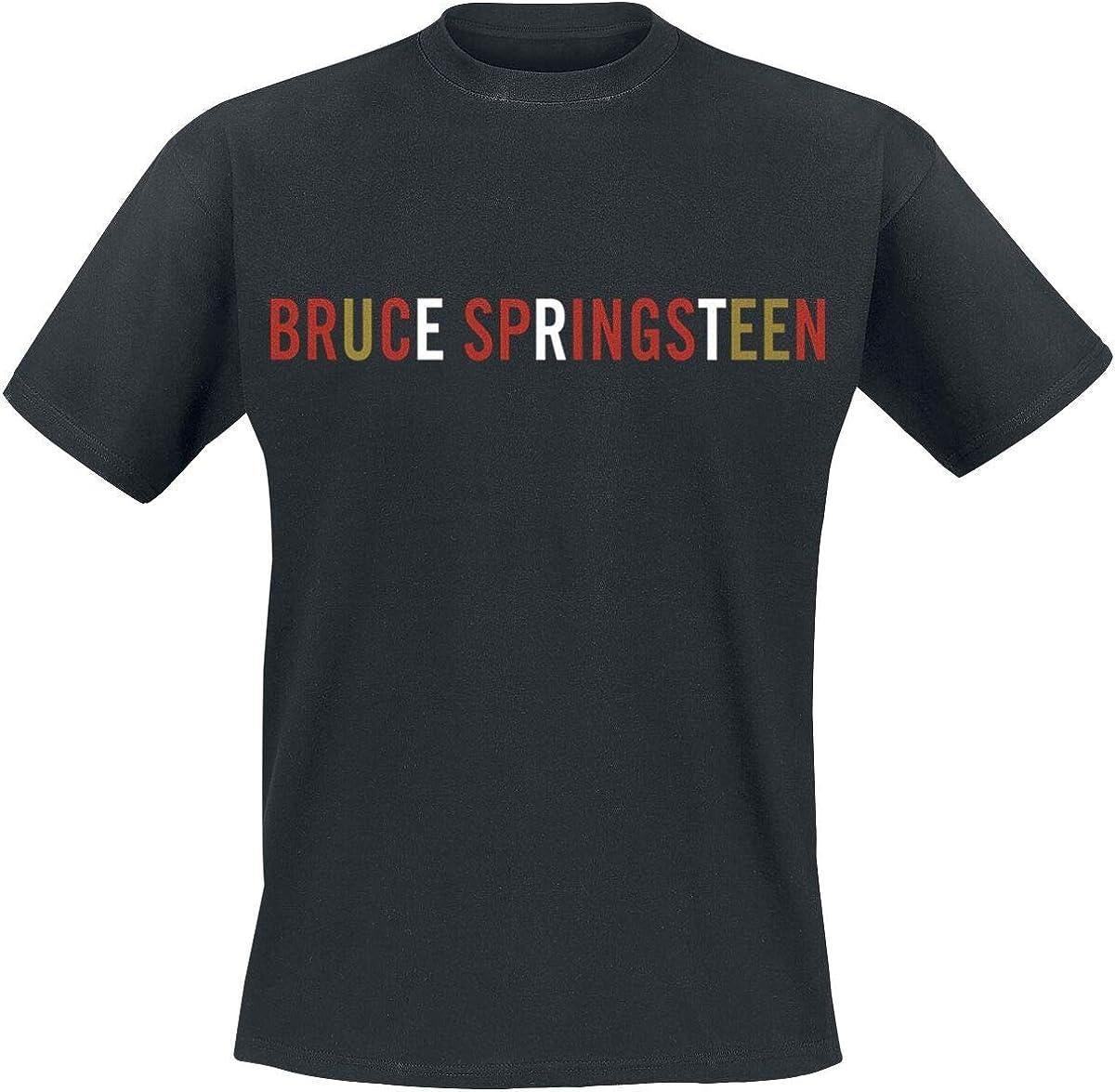 G/én/érique Bruce Springsteen Logo T-Shirt Manches Courtes Noir L
