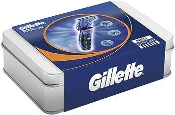 Gillette Fusion ProGlide Styler Pack de regalo (cuchillas de afeitar, gel de afeitar transparente), 1er Pack (1 x 1 juego): Amazon.es: Salud y cuidado personal