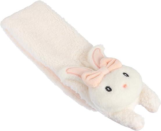 SOIMISS Sciarpa per Bambini Finto Coniglio Scialle Cartone Animato Bambola Animale Scrollata di Spalle Sciarpa Calda Fazzoletto da Collo per Lautunno Inverno Bianco