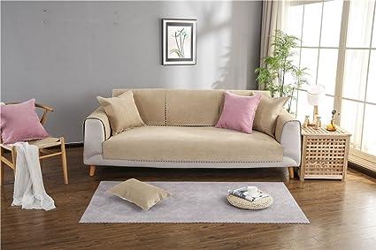 Amazon.com: NHockeric Waterproof Sofa Cover Soft Anti-skid ...