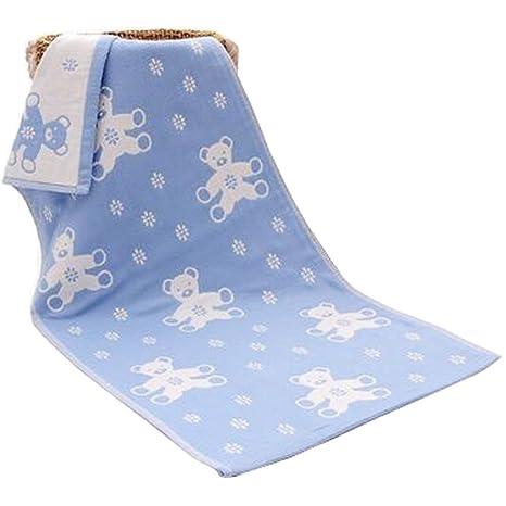 Niños de dibujos animados de algodón suave toallas de mano Gimnasio toallas de baño toallitas 9.84