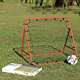 HITSAN Soccer Baseball Training Exercise Stander Rebound Target Mesh Net Outdoor Sports Entertainm One Piece