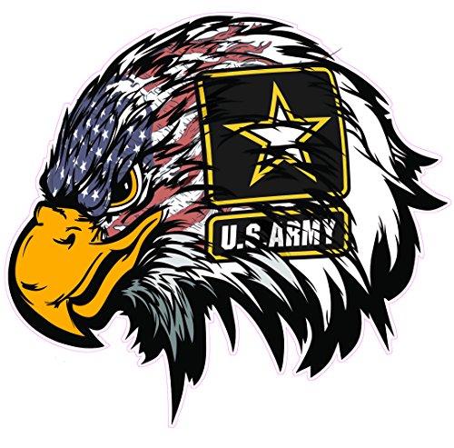 (Army American Flag Eagle Head Decal)