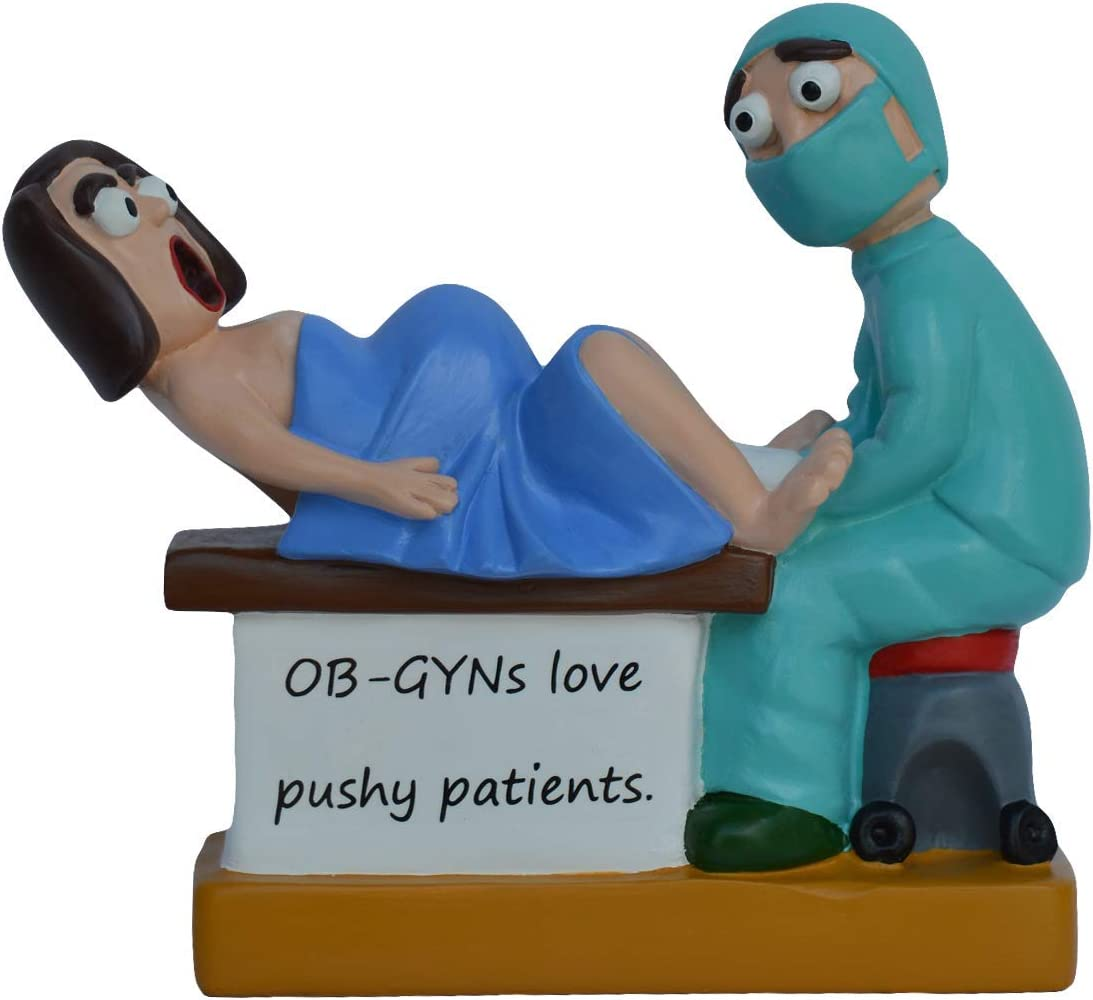 Case Creations Gifts - Hand Painted Sculpture Figurine - Doctor Gift (Delivery Doctor)