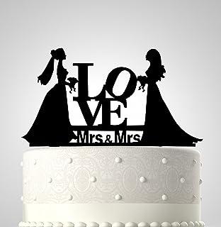 Amazoncom Female Cake Topper Lesbian Cake Topper Wedding Cake