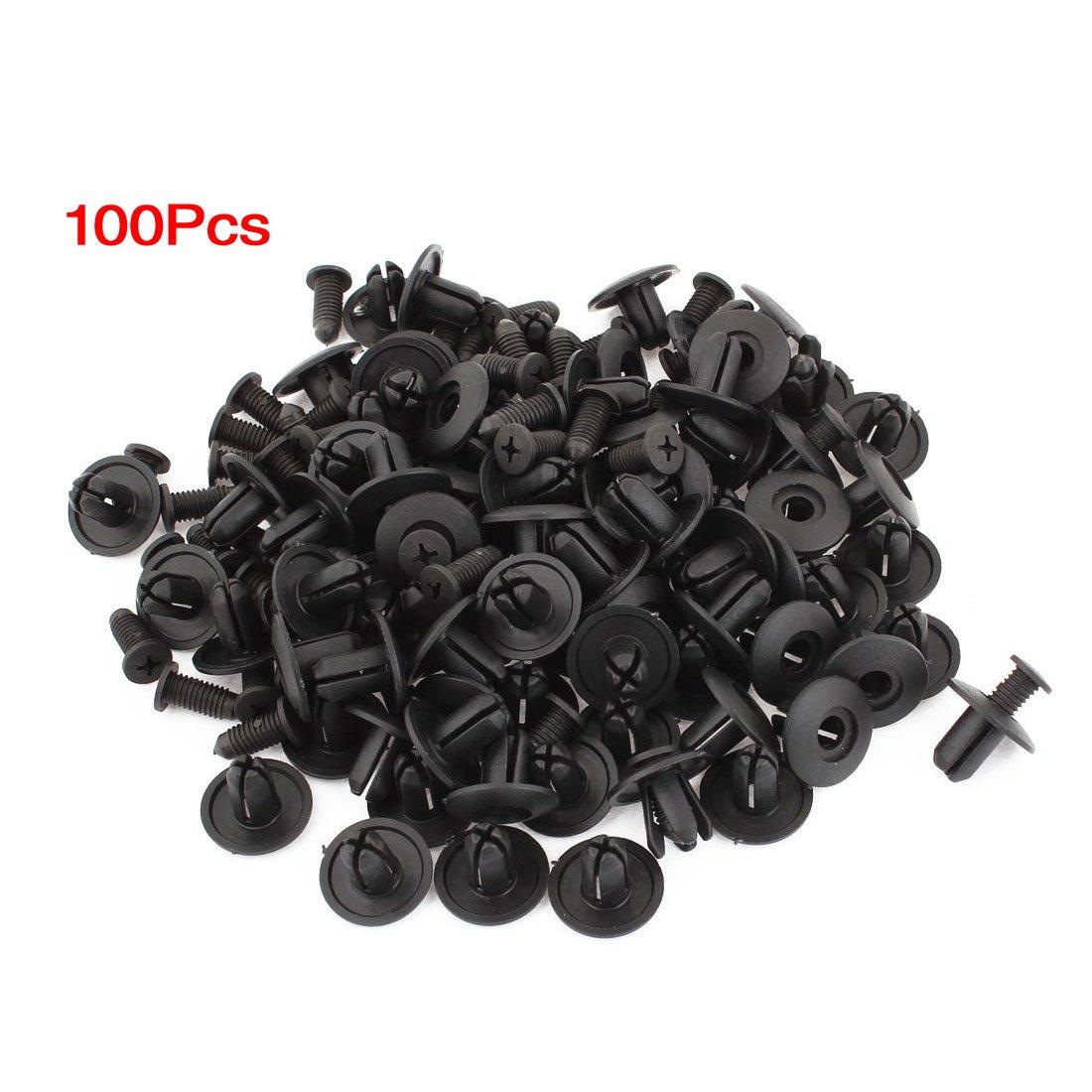 Cikuso R 8 millimetri Diametro Foro plastica Rivetti Fastener Parabordo Paraurti Push Pin Clips x100