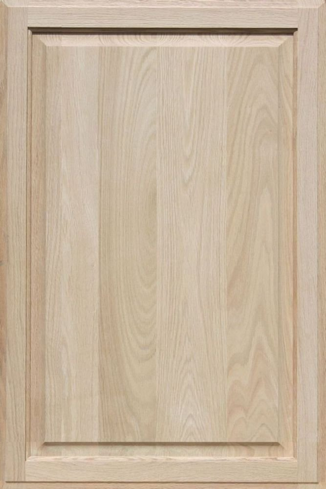 Unfinished Oak Cabinet Door, Square with Raised Panel by Kendor 33H x 22W