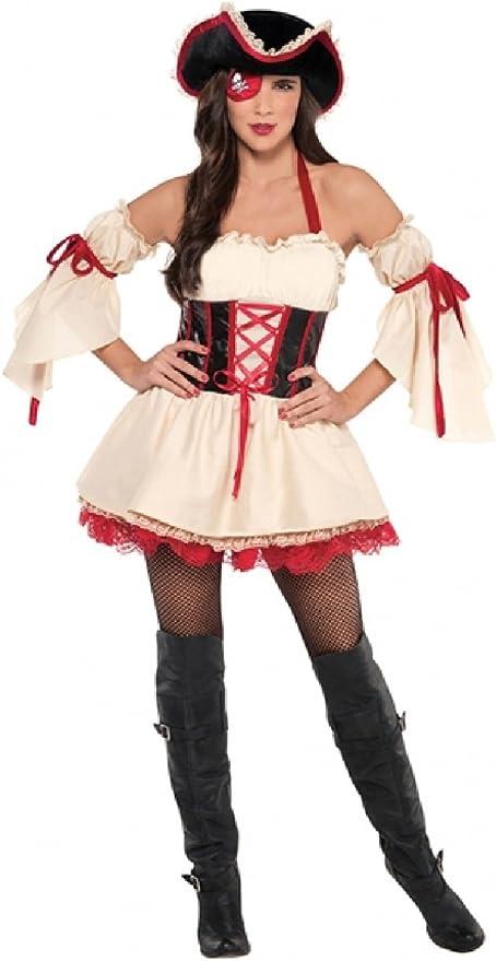 Fancy Me Foxy - Disfraz de Pirata para Mujer, 4 Piezas, para ...