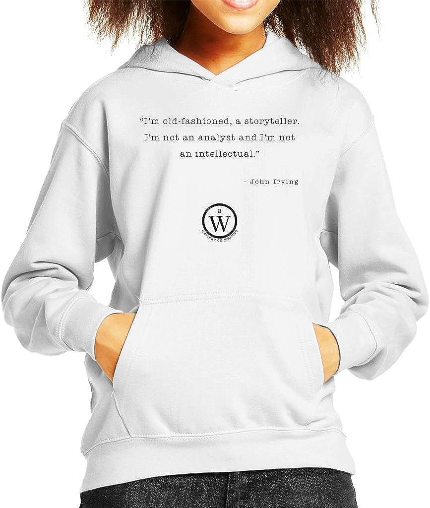 Reviewers Perform No Service John Irving Kids Hooded Sweatshirt