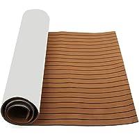 YOUTTOO Teak Decking Sheet, 2400x1200x6mm EVA Foam Bruin Faux Teak Boot Vloeren Decking Sheet Pad