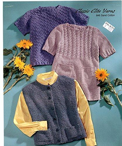 Amazon Classic Elite Yarns Knitting Pattern 846 Sand Cotton 3