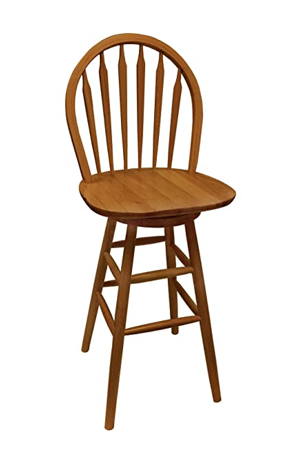 Prime 1 Custom Counter Height Oak Finish Swivel Seat Arrow Back Bar Stool With Chair Pad Choose From 24 To 31 Seat Height 31 Pabps2019 Chair Design Images Pabps2019Com