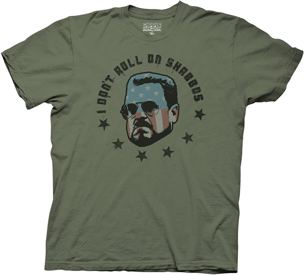 Ripple Junction Big Lebowski Adult Unisex Roll on Shabbas Heavy Weight 100% Cotton Crew T-Shirt