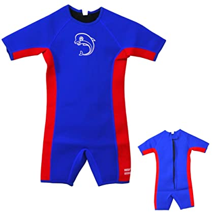 505bdf4280 HushGecko Kids Thermal Swimsuit, UPF50+ Protection, Neoprene Swimwear 3mm  Thickness, Swim Suit Wetsuit