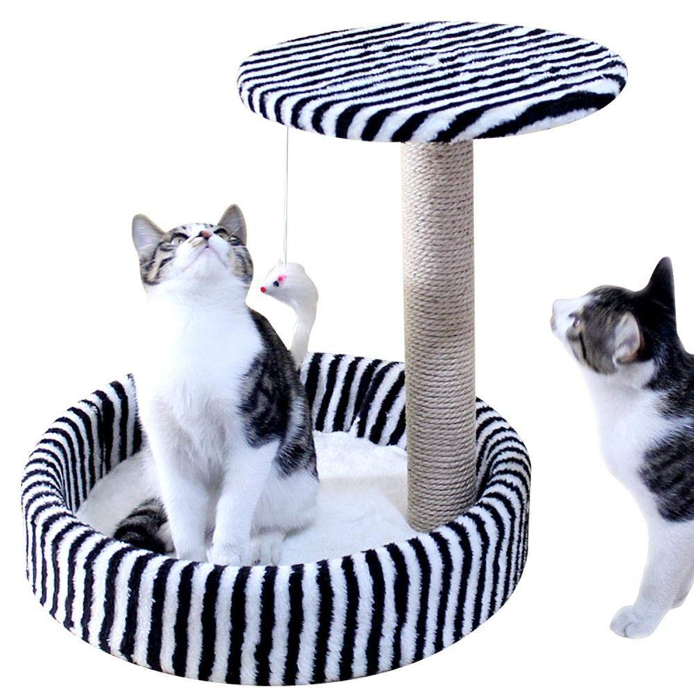 Bronze Cat Furniture Play Towers and Trees Cat Climbing cat Grab Pillar cat nest for Sleeping Games (color   Bronze)