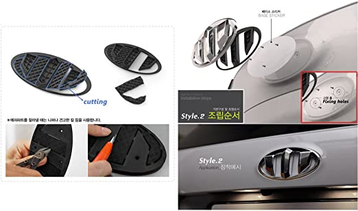 Front Rear Horn Cap Steering Wheel Brenthon Emblem 3p 1Set For 2016 Kia Sorento