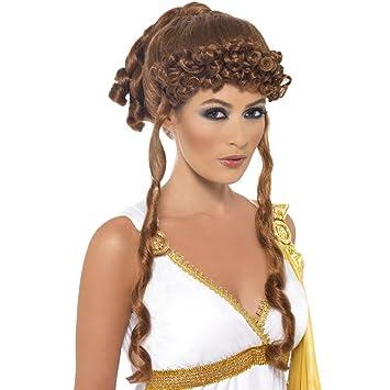 Peluca de mujer Helena de Troya accesorios Antigua Grecia