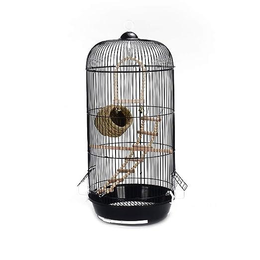 Jaulas para pájaros Ronda de metal retro del loro jaula de pájaros ...