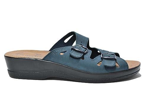 Fly Flot Ciabatte scarpe donna blu 27230 40  Amazon.it  Scarpe e borse 58dbfab66d2